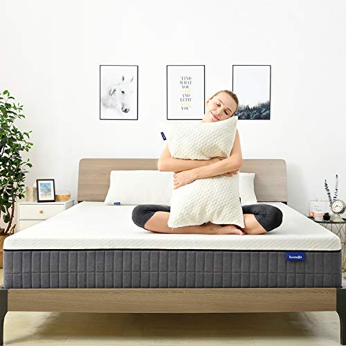 Queen Mattress, Sweetnight 12 Inch Queen Size Mattress in Box, Pillow Top Gel Memory Foam Mattress with CertiPUR-US Certified for Motion Isolation & Cool Sleep, Removable & Washable Mattresses Cover