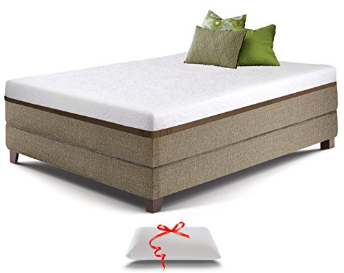 Live and Sleep Resort Ultra Bed in Box - 12-Inch Cooling Gel Memory Foam Mattress in a Box with Memory Foam Pillow - CertiPur Certified - King Size