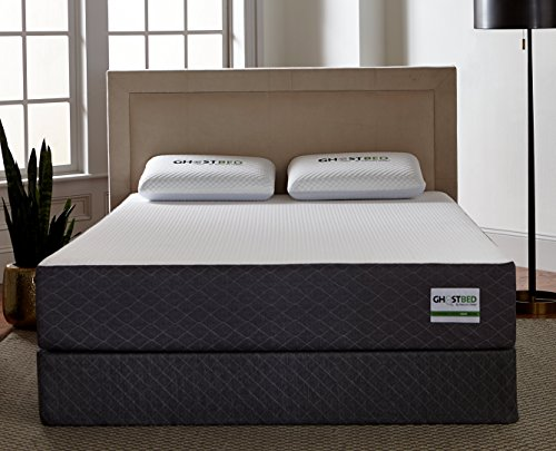 GhostBed Mattress-Queen 11 Inch-Cooling Gel Memory Foam-Mattress in a Box-Most Advanced Adaptive Gel Memory Foam–Coolest Mattress in America-Made in the USA–Industry Leading 20 Year Warranty