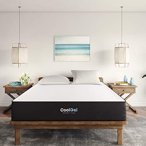 Classic Brands Cool Gel Ventilated Memory Foam 10-Inch Mattress | CertiPUR-US Certified | Bed-in-a-Box, Twin