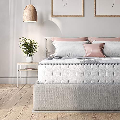 Classic Brands Decker Hybrid Memory Foam and Innerspring 10-Inch Mattress, White , Full - 413008-1130