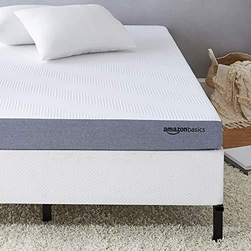 AmazonBasics Ventilated Cooling Gel Memory Foam Mattress - Firm Feel - 5 inch, Twin