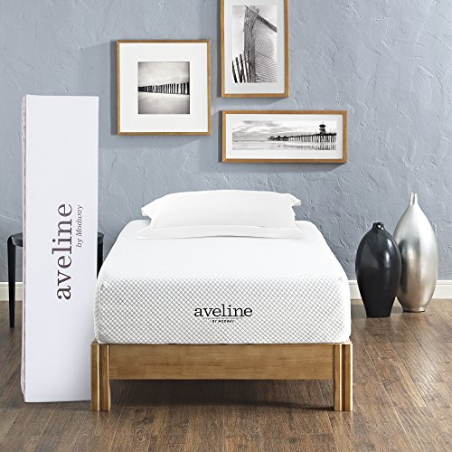 Modway Aveline 10' Gel Infused Memory Twin Mattress With CertiPUR-US Certified Foam, White
