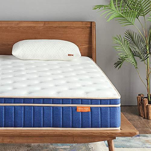 Sweetnight Ocean Blue 8' Hybrid Mattress | Gel Memory Foam & Individually Pocket Springs | Queen Size