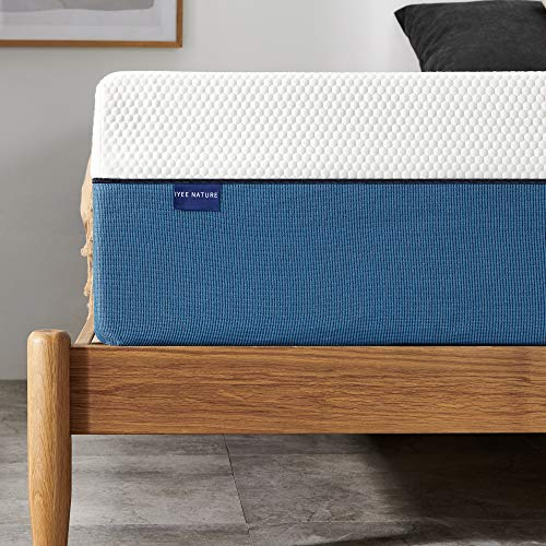 Queen Size Mattress Iyee Nature10 Inch Cooling Gel Memory Foam Mattress with CertiPUR Bed Mattress in a Box for Sleep Cooler & Pressure Relief, Queen Mattress