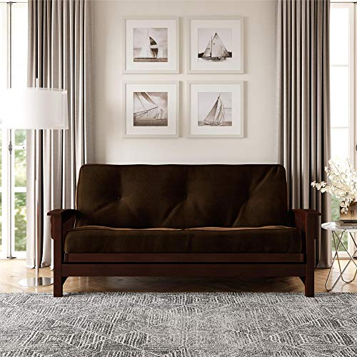 DHP 8-Inch Independently Encased Coil Futon Mattress, Full Size, Chocolate Brown Frame Not Included