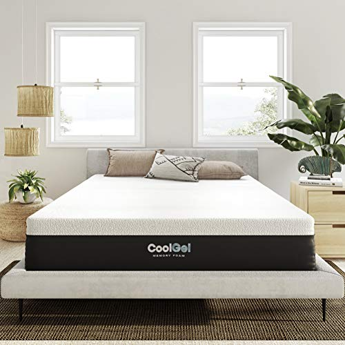 Classic Brands Cool Gel Ventilated Memory Foam 12-Inch Mattress | CertiPUR-US Certified | Bed-in-a-Box, Queen