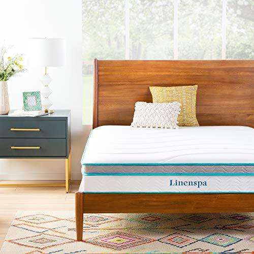 Linenspa 10 Inch Memory Foam and Innerspring Hybrid Mattress - Medium Feel - Twin