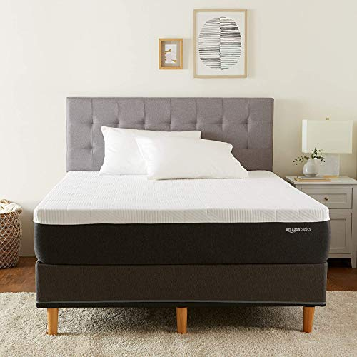 Amazon Basics Cooling Gel Infused Latex-Feel Mattress - Firm Support - CertiPUR-US Certified - 12 inch, Full