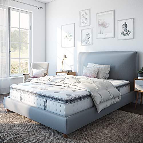 Classic Brands Mercer Pillow Top Cool Gel Memory Foam and Innerspring Hybrid 12-Inch Mattress, Twin XL