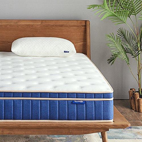 Sweetnight Ocean Blue 8' Hybrid Mattress   Gel Memory Foam & Individually Pocket Springs   Queen Size
