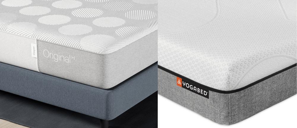 Casper Original Vs Yogabed Mattress Comparison